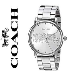 NWT COACH silver tone Grand watch